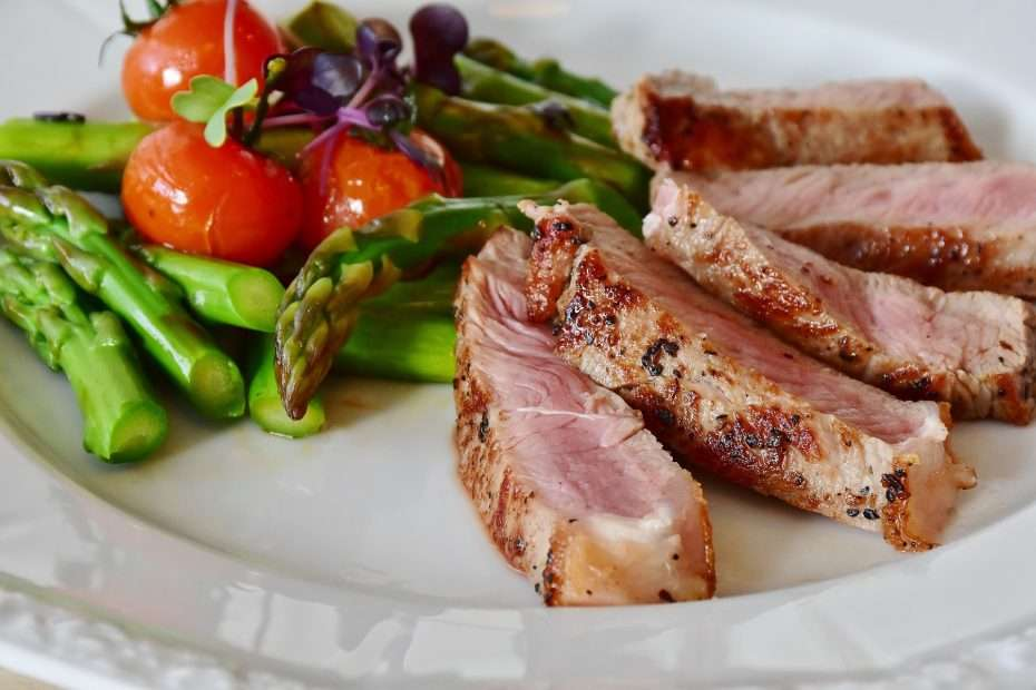 Grilled steak and vegetables by SS Diets